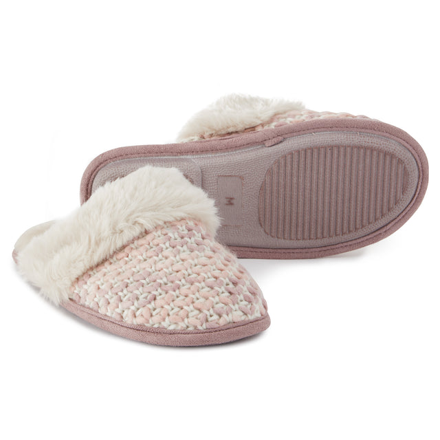 Tunnard Womens Knit Slipper - Rose Pink image 1