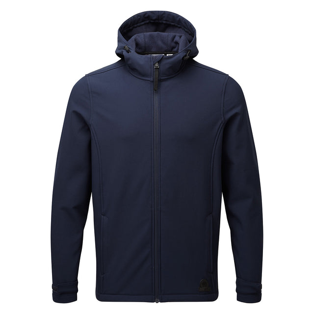 Valley Mens Softshell Hoody - Navy image 2