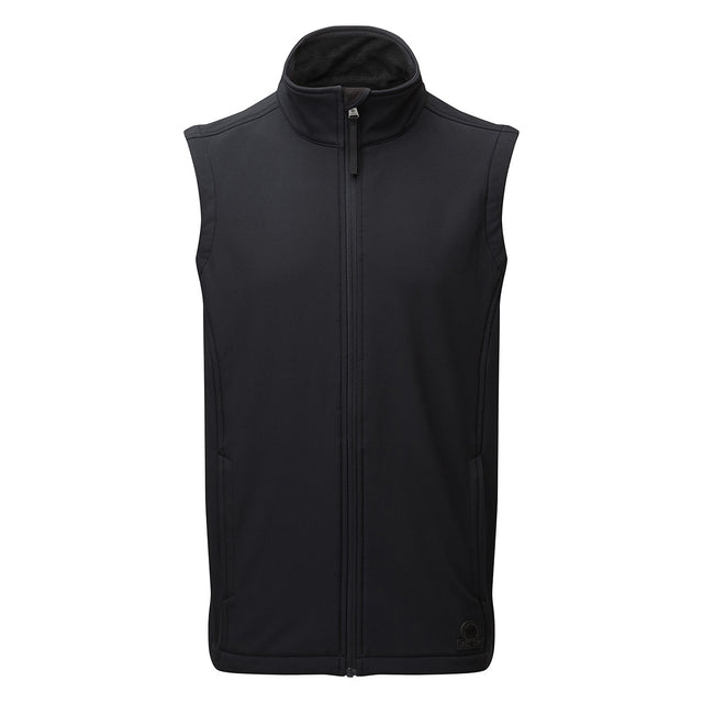 Valley Mens Softshell Gilet - Black image 2