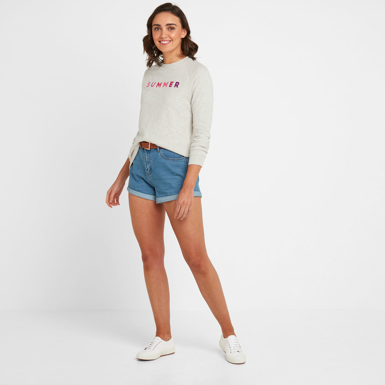 Varley Womens Crew Sweat - Oatmeal Marl image 4