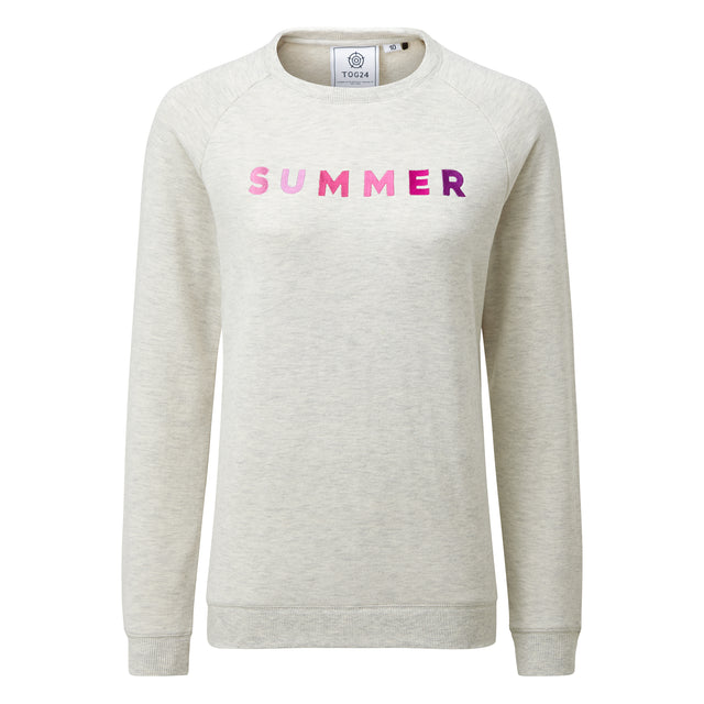Varley Womens Crew Sweat - Oatmeal Marl image 3