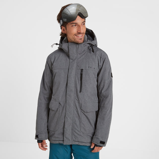Vertigo Mens Waterproof Insulated Ski Jacket - Grey Marl image 1