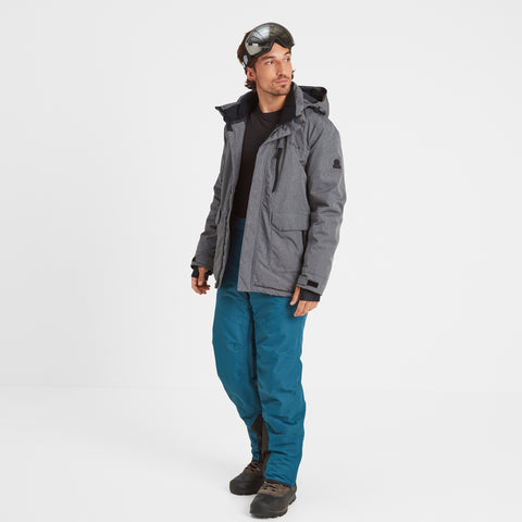Vertigo Mens Waterproof Insulated Ski Jacket - Grey Marl
