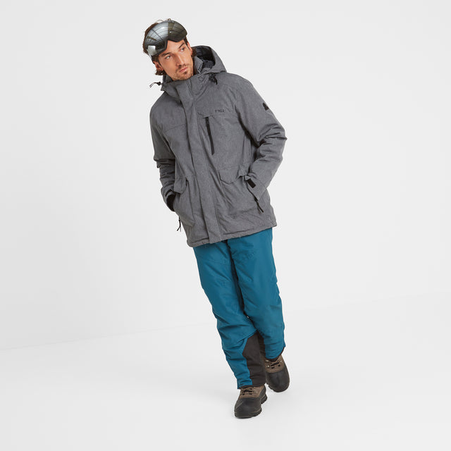 Vertigo Mens Waterproof Insulated Ski Jacket - Grey Marl image 3