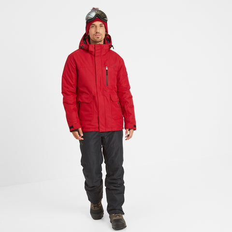Vertigo Mens Waterproof Insulated Ski Jacket - Chilli