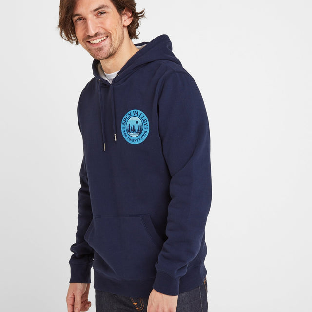 Webster Mens Hoody - Navy image 1