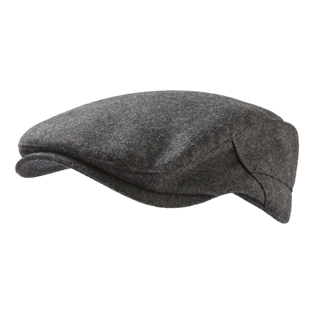 Weighton Knit Flat Cap - Dark Grey Marl image 2