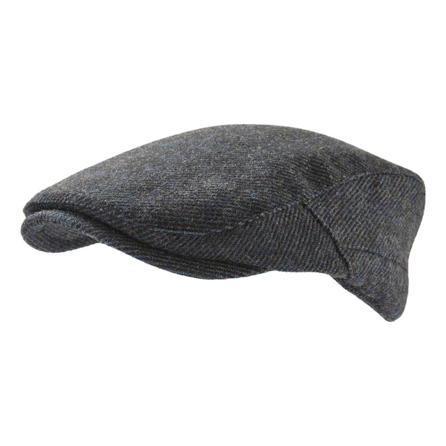 Weighton Knit Flat Cap - Blue Marl image 2