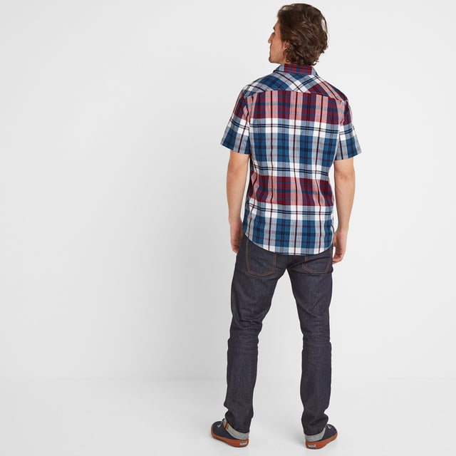 Wickley Mens Check Shirt - Rio Red image 2