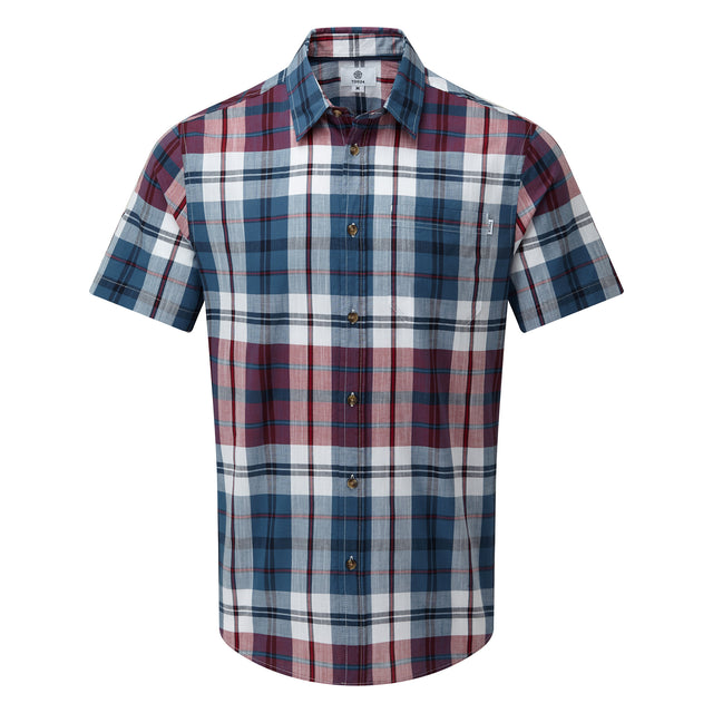 Wickley Mens Check Shirt - Rio Red image 3