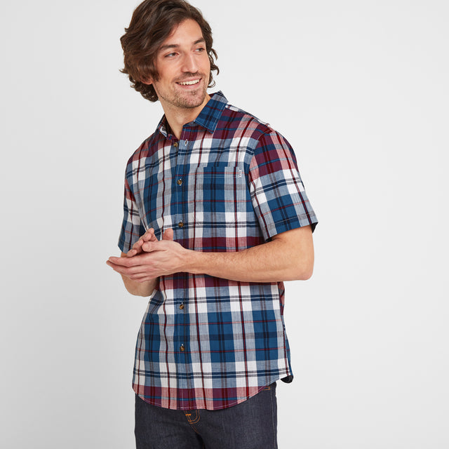Wickley Mens Check Shirt - Rio Red image 1