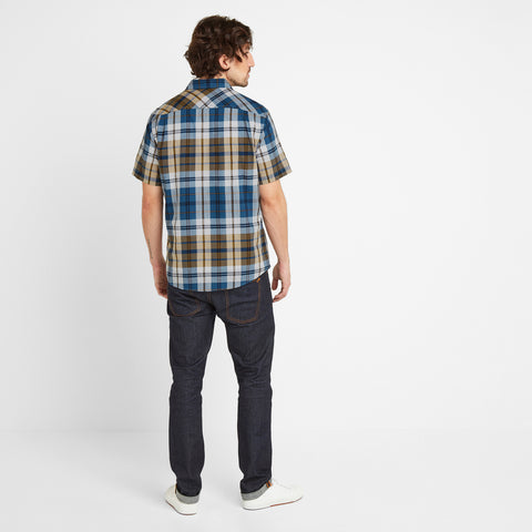 Wickley Mens Check Shirt - Mustard