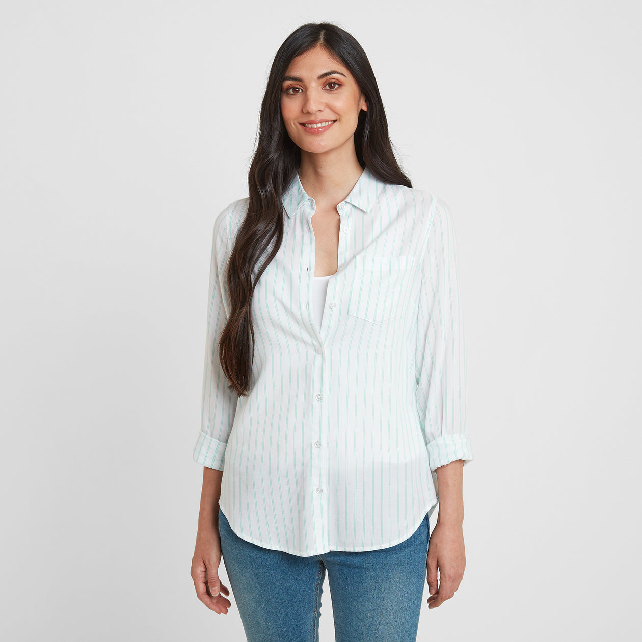 Wirral Womens Long Sleeve Shirt - Spearmint image 4