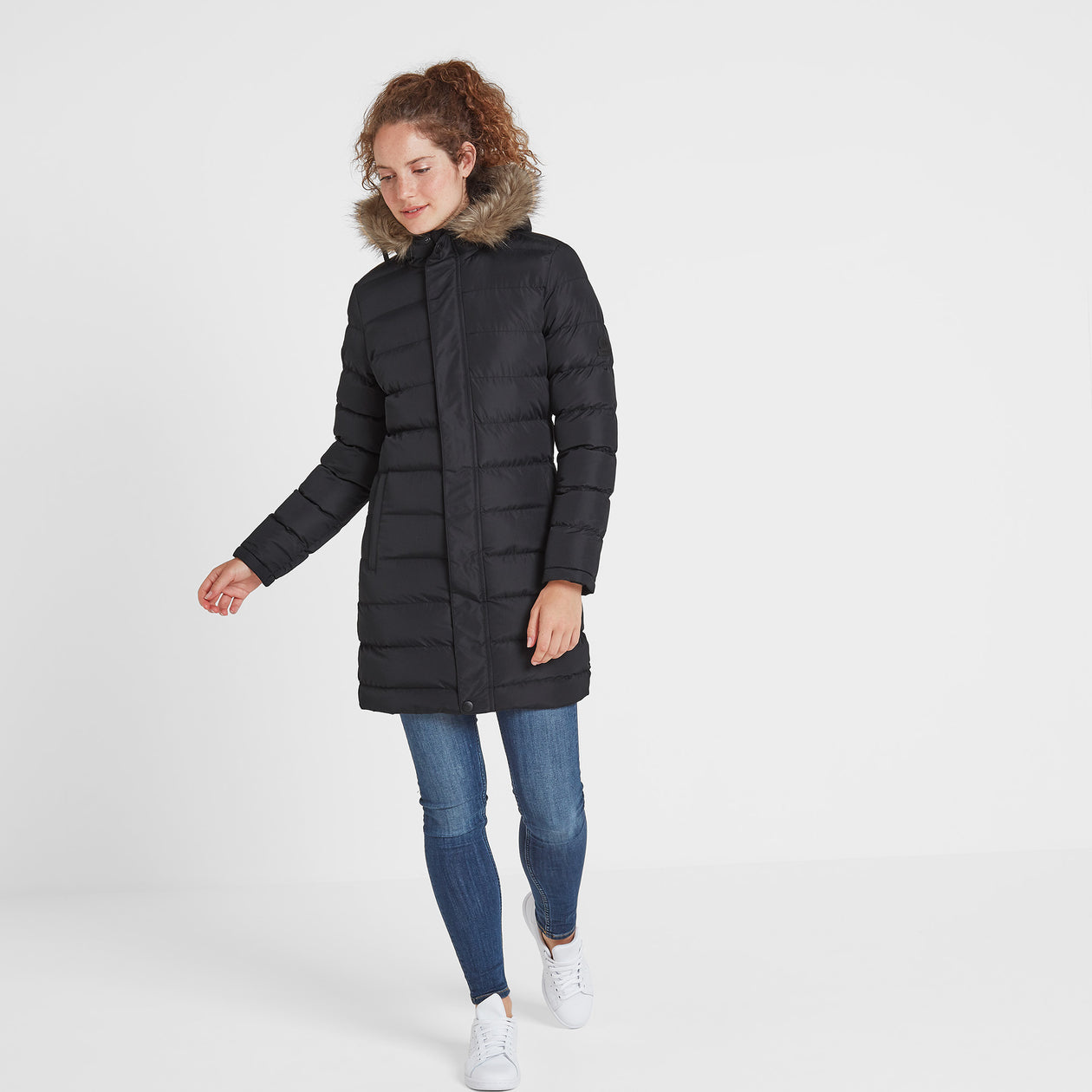 Yeadon Womens Long Insulated Jacket - Black image 4