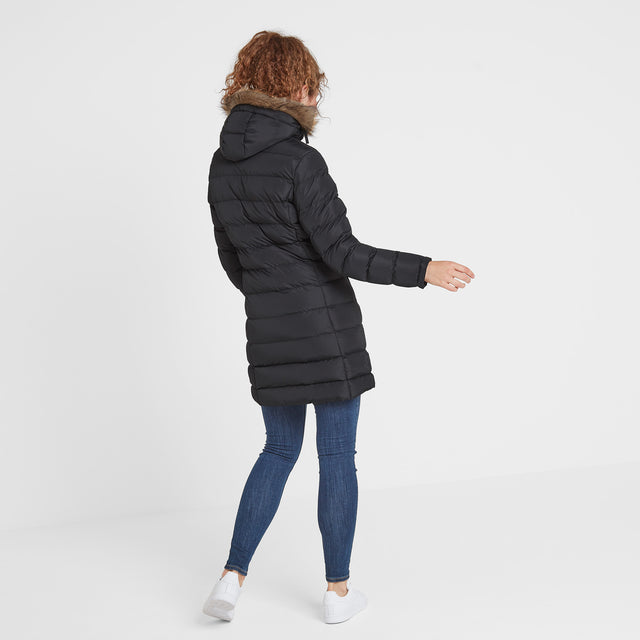 Yeadon Womens Long Insulated Jacket - Black image 3