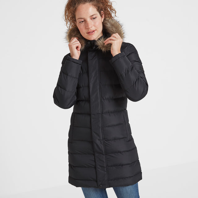 Yeadon Womens Long Insulated Jacket - Black image 1