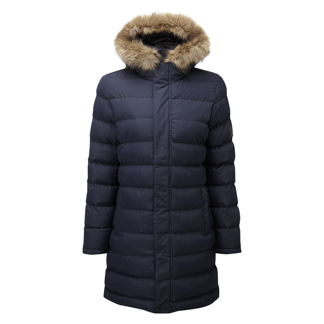 Yeadon Womens Long Insulated Jacket - Navy image 6