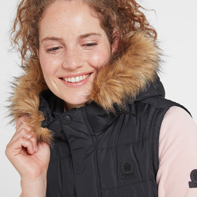 Yeadon Womens Insulated Gilet - Black image 2