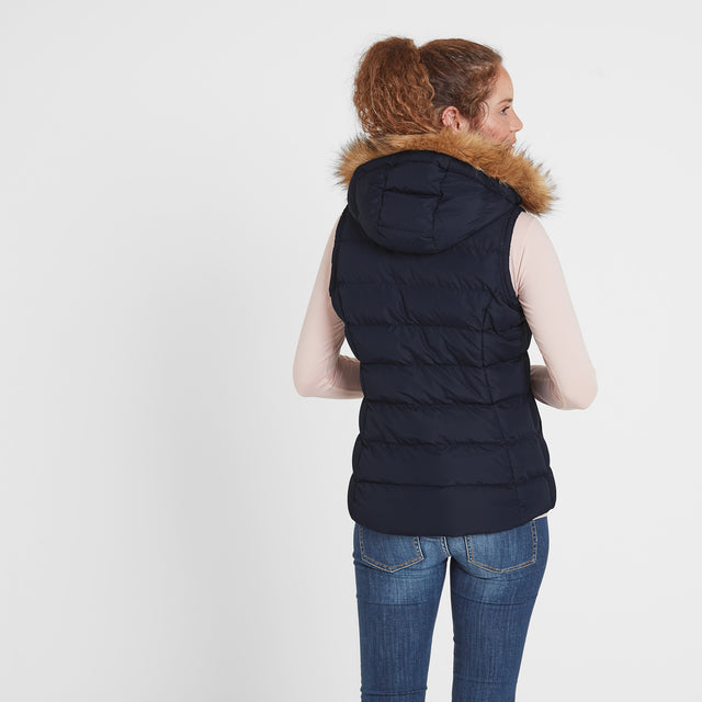 Yeadon Womens Insulated Gilet - Navy image 2
