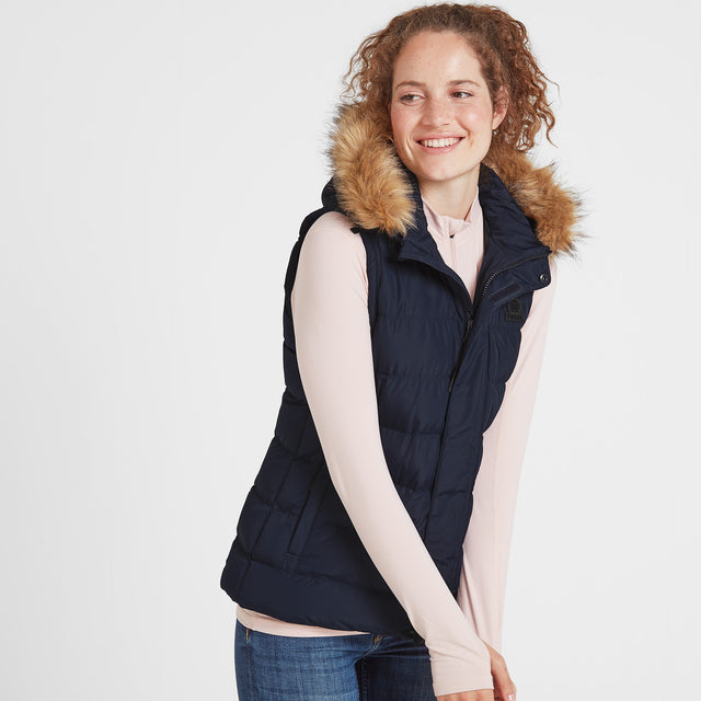 Yeadon Womens Insulated Gilet - Navy image 1
