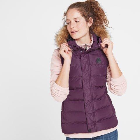 Yeadon Womens Insulated Gilet - Aubergine