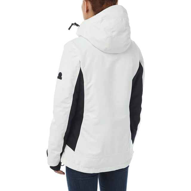 Abbey Womens Waterproof Insulated Ski Jacket - White/Black image 3