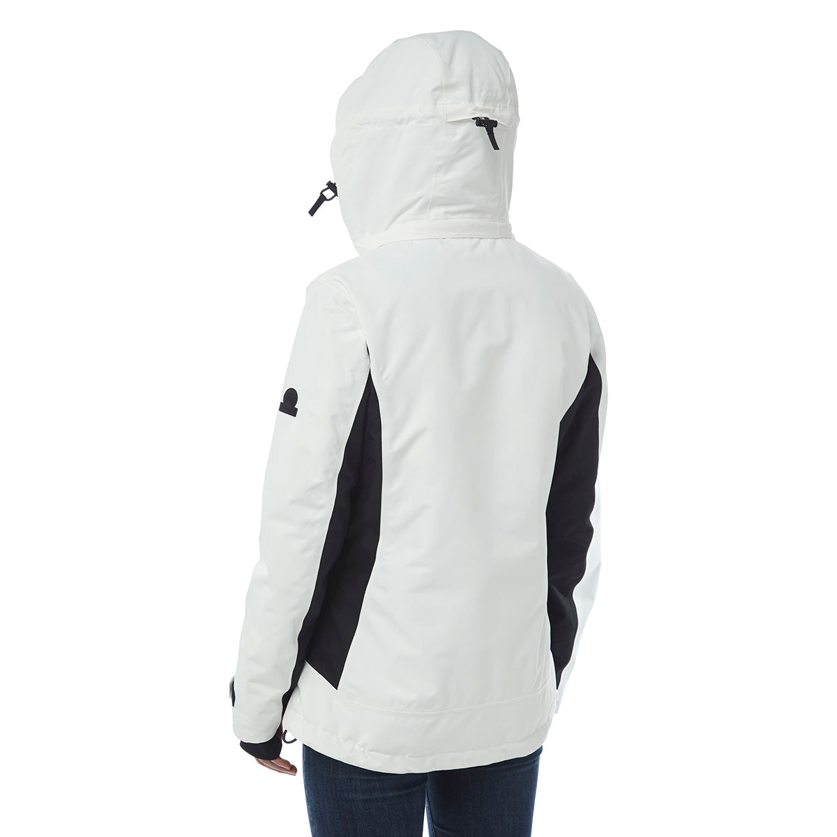 Abbey Womens Waterproof Insulated Ski Jacket - White/Black image 4