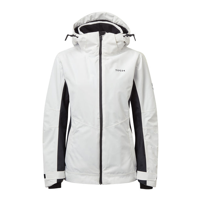 Abbey Womens Waterproof Insulated Ski Jacket - White/Black image 1