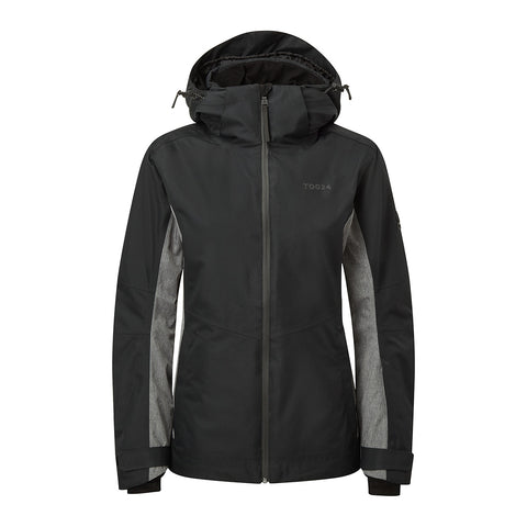 Abbey Womens Waterproof Insulated Ski Jacket - Black/Grey Marl