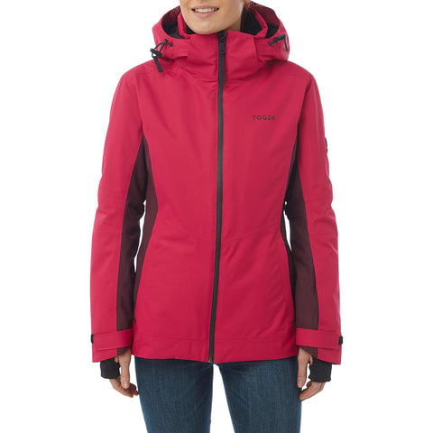 Abbey Womens Waterproof Insulated Ski Jacket - Cerise/Deep Port Marl