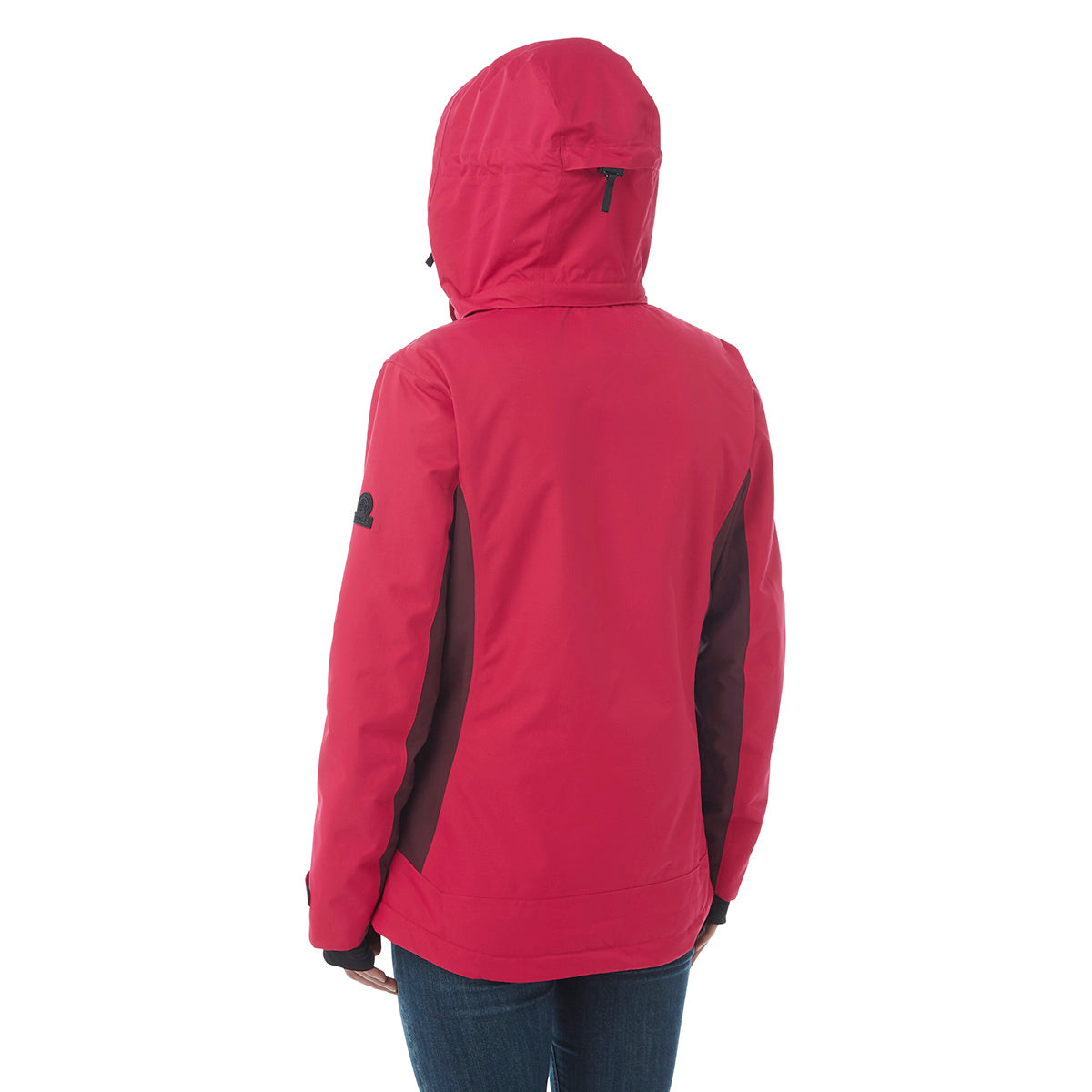 Abbey Womens Waterproof Insulated Ski Jacket - Cerise/Deep Port Marl image 4