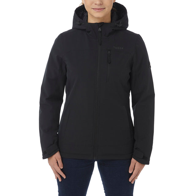 Alexis Womens TCZ Thermal Hooded Jacket - Black image 2