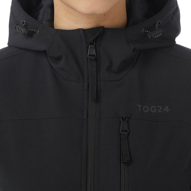 Alexis Womens TCZ Thermal Hooded Jacket - Black image 5