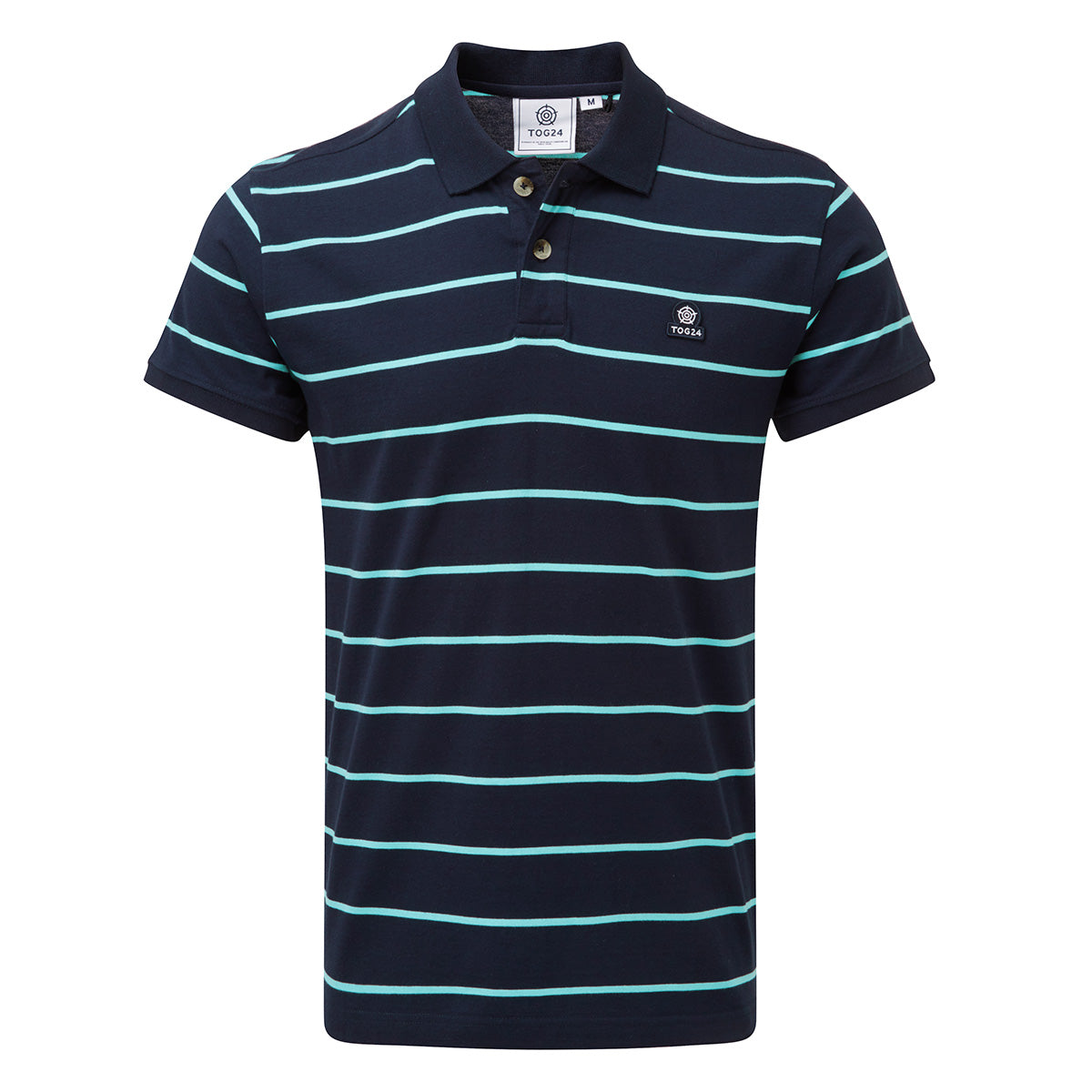 Alfie Mens Stripe Polo Shirt - Navy image 4