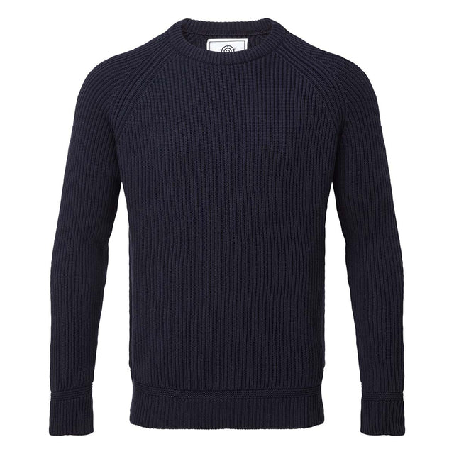 Alford Mens Ribbed Jumper - Navy image 3