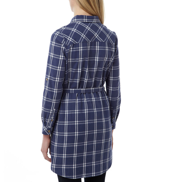 Annie Womens Shirt Dress - Damson Check image 3