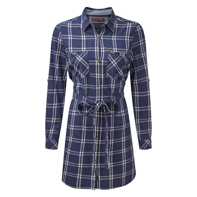 Annie Womens Shirt Dress - Damson Check image 1