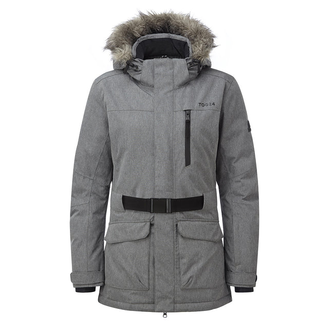 Aria Womens Waterproof Insulated Ski Jacket - Grey Marl image 5