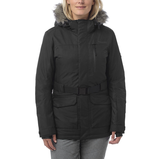 Aria Womens Waterproof Insulated Ski Jacket - Black image 2