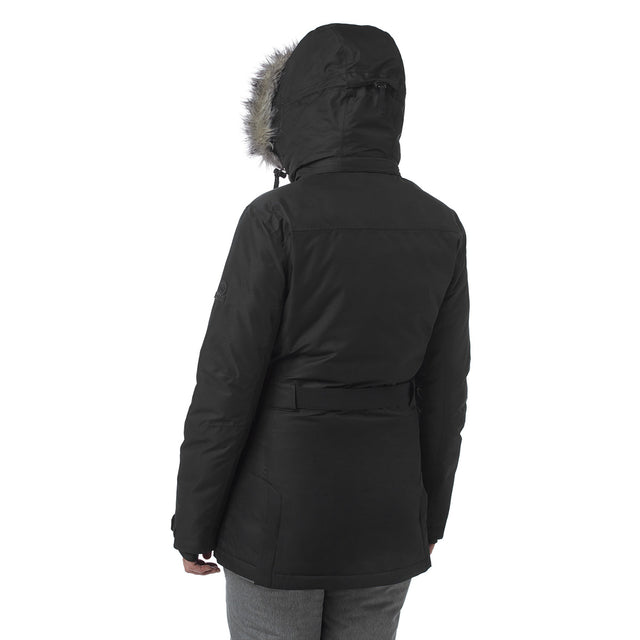 Aria Womens Waterproof Insulated Ski Jacket - Black image 3