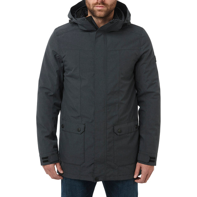 Arkle Mens Milatex 3-In-1 Jacket - Black Marl image 2