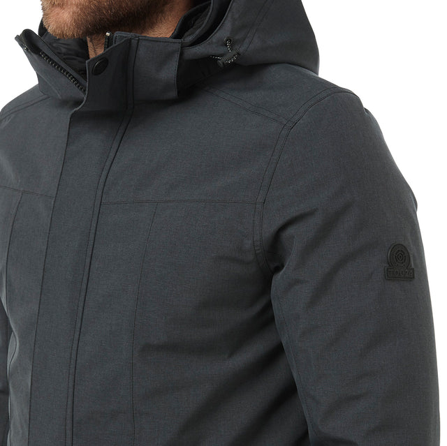 Arkle Mens Milatex 3-In-1 Jacket - Black Marl image 5