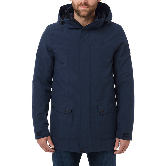 Arkle Mens Milatex 3-In-1 Jacket - Navy Marl image 2