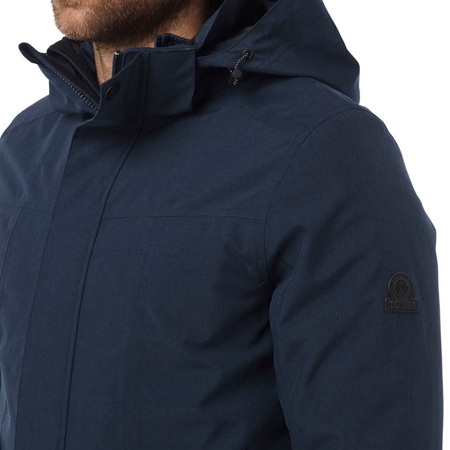 Arkle Mens Milatex 3-In-1 Jacket - Navy Marl image 5
