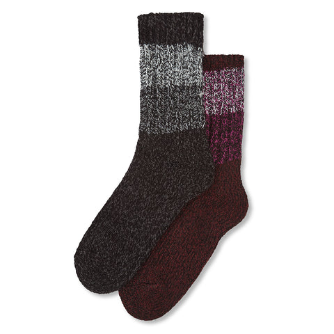 Arnold 2 Pack Trek Socks - Black Marl/Deep Port Marl