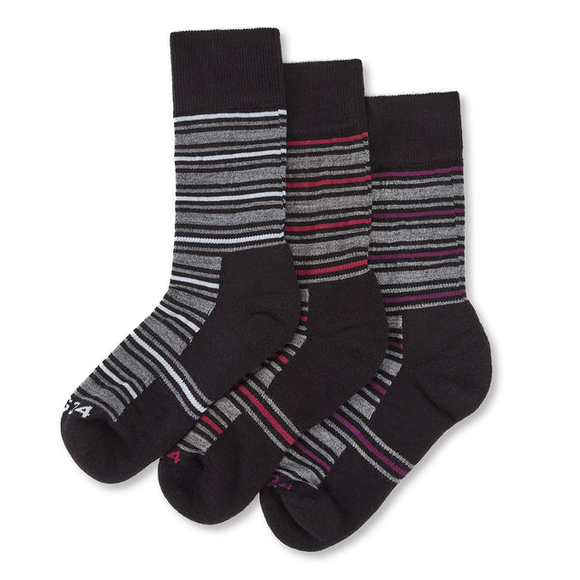 Arram Womens 3 Pack Merino Trek Socks - Cerise/Grape/White image 1