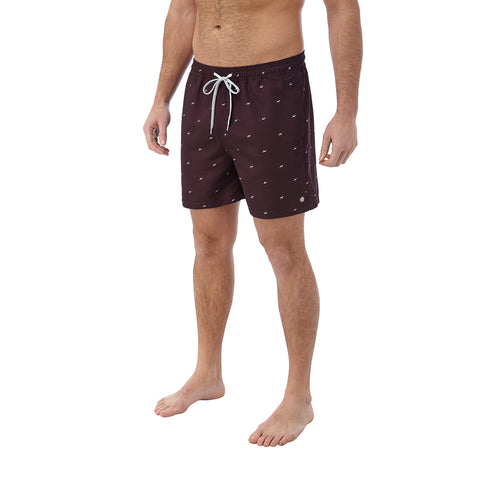 Arthur Mens Swimshorts - Deep Port Print
