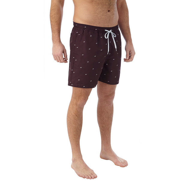 Arthur Mens Swimshorts - Deep Port Print image 3