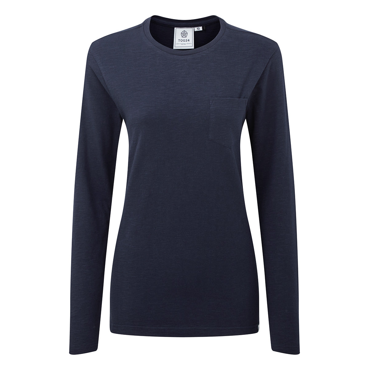 Askwith Womens Long Sleeve Pocket T-Shirt - Navy image 4