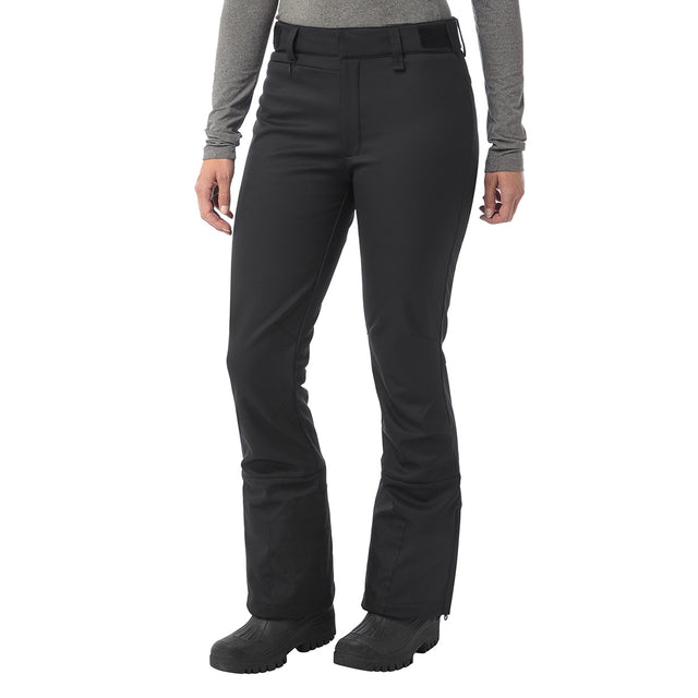 Aubree Womens Fitted Softshell Ski Pants Regular - Black image 2
